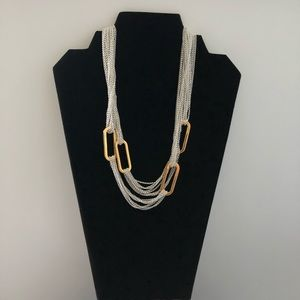 Ralph Lauren Silver With Gold Link Necklace